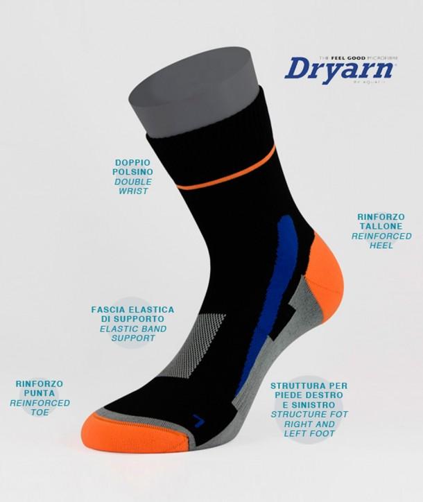 Dryarn® Short Running Socks Black for men