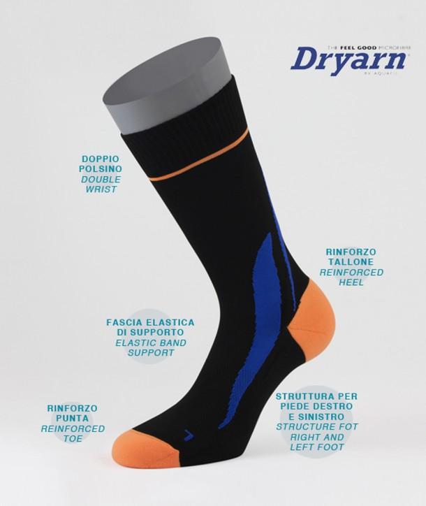 Dryarn® Short Bike Socks Black for Men
