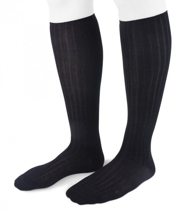 Ribbed Long Wool Women Socks Black