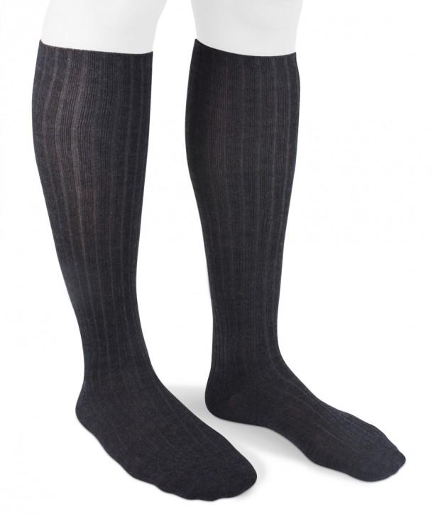 Ribbed Long Wool Women Socks Grey