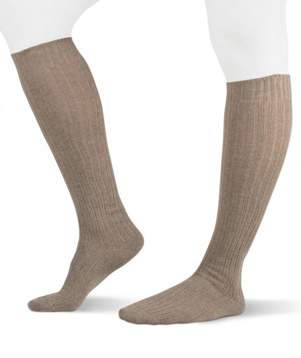 Ribbed Long Cashmere blend beige Socks for women
