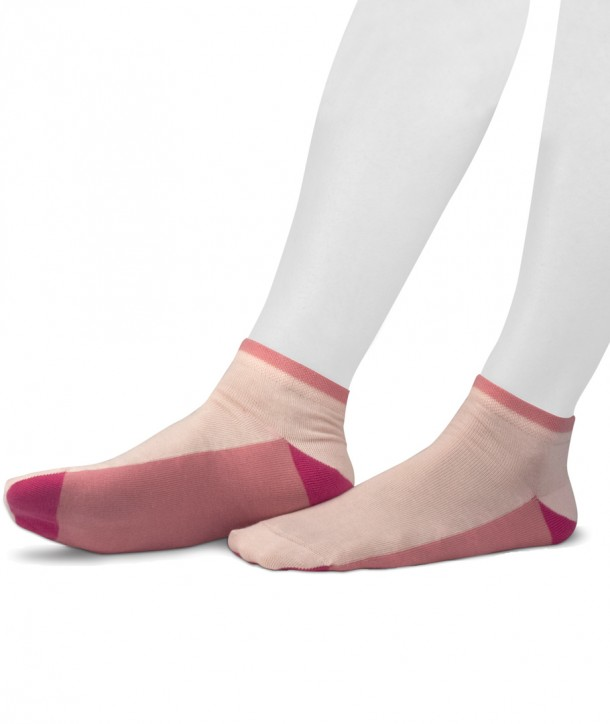 Sneaker cotton socks for women pink