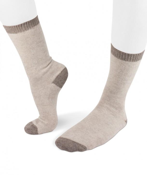 Cashmere blend Short Beige Socks for women