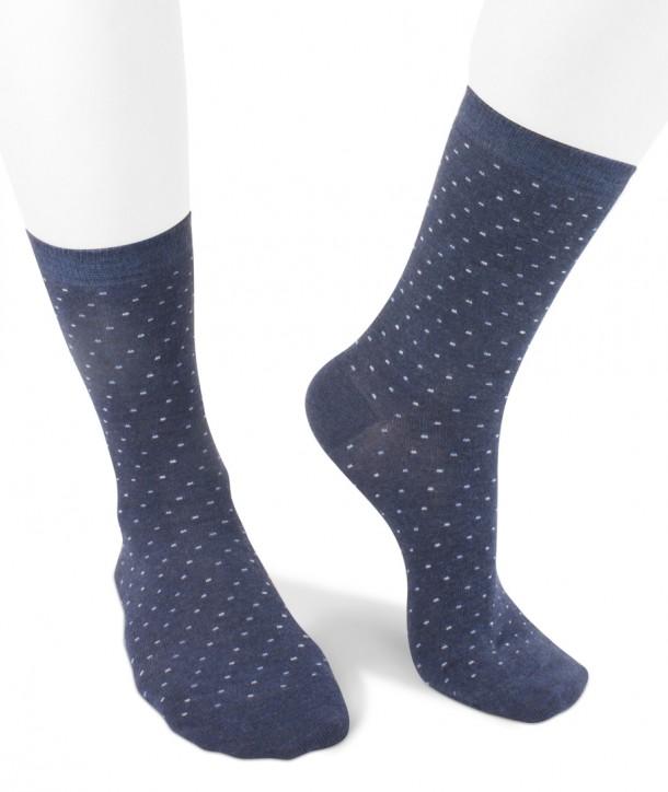 short viscose mini dots socks for women blue