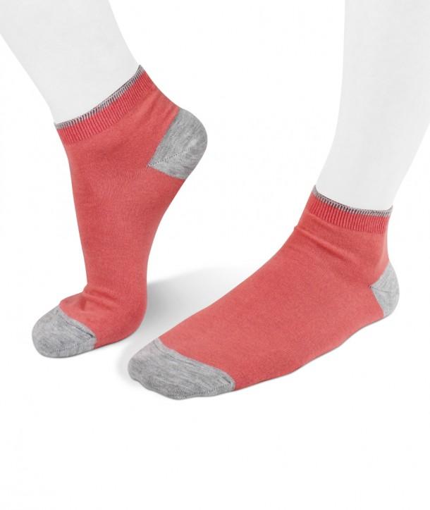 Calze sneakers rosa salmone in viscosa per donna