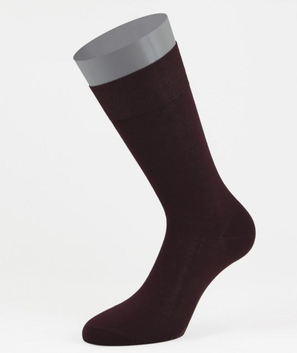 Flat Knit Cotton Short Socks Bordeaux for men