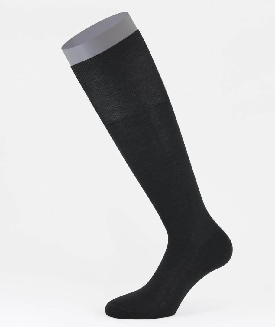 7f3c67fee Flat Knit Cotton Long Socks Black for men