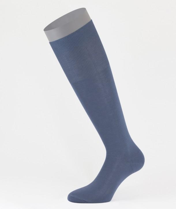 Flat Knit Cotton Long Socks Avion for men
