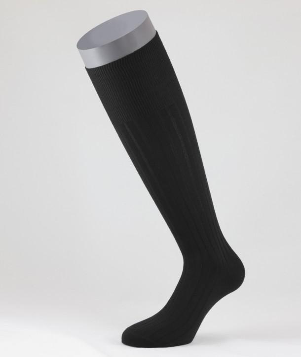 Calze Lunghe nere a Costa in Cotone Invernale per uomo