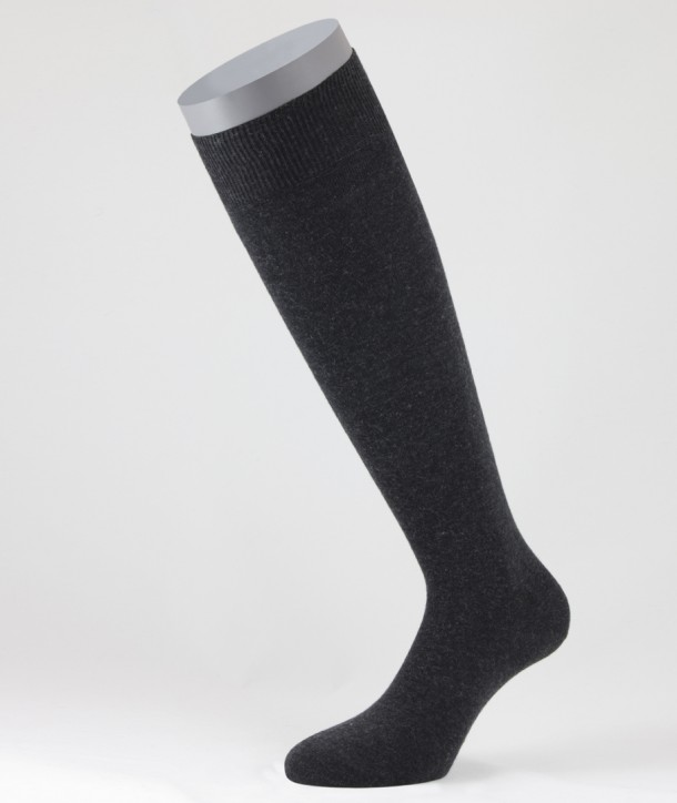 Cotton Cashmere Long Socks Anthracite for men