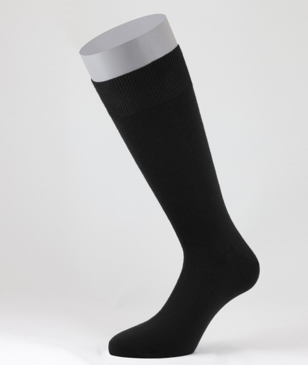 Flat Knit Wool Short Socks for men Black