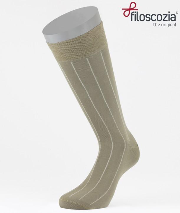 Pinstripe Cotton Short Socks Beige for men
