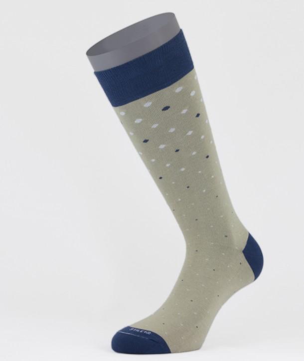 Dots Cotton Short Socks Beige for men