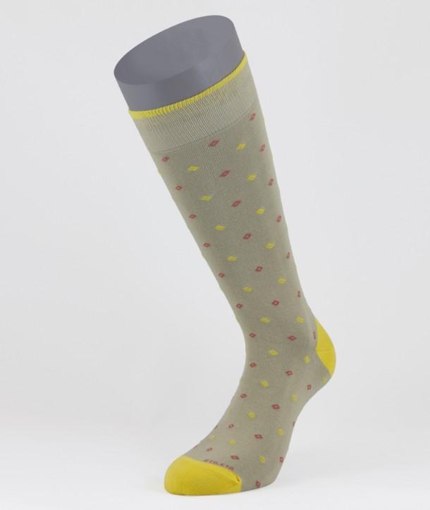 Mini Diamonds Cotton Short Socks Beige for men