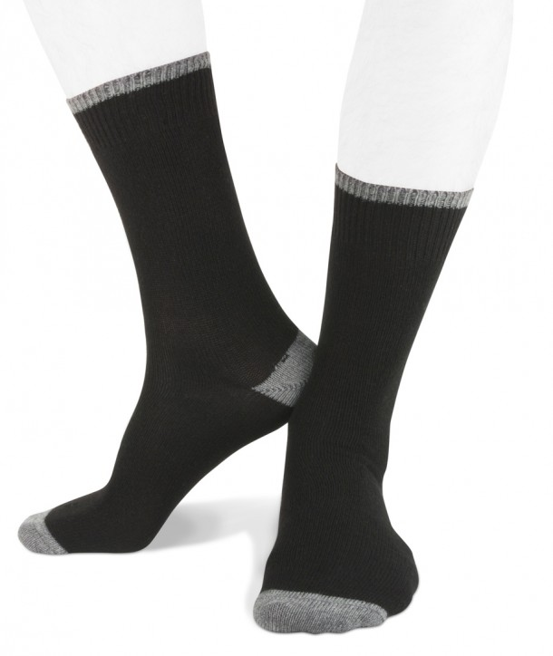 Short cashmere men socks black grey