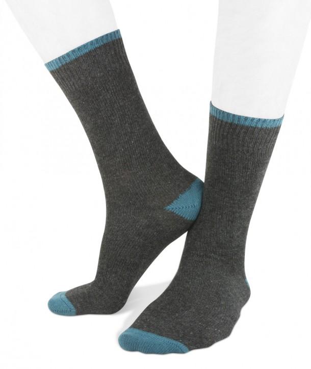 Short cashmere blend men socks anthracite blue