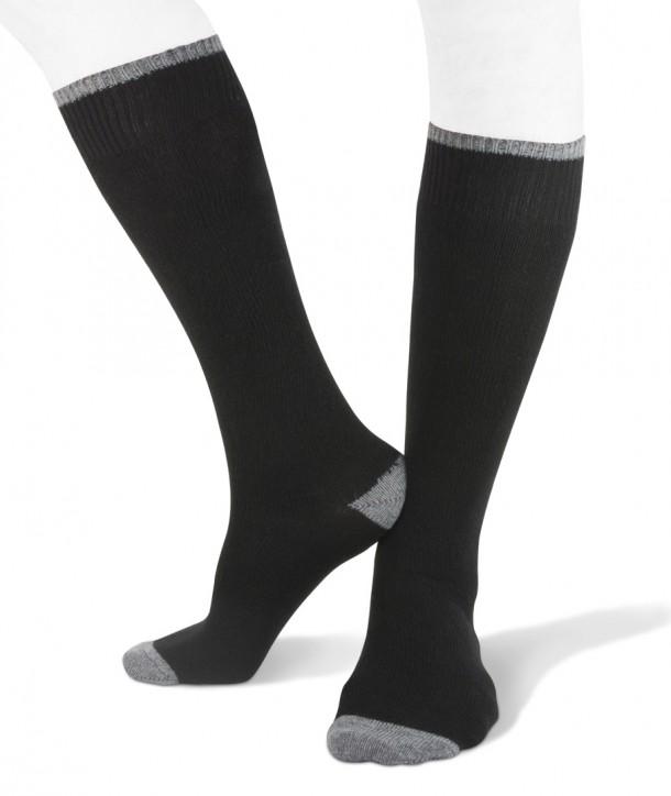 Long cashmere blend men socks black grey