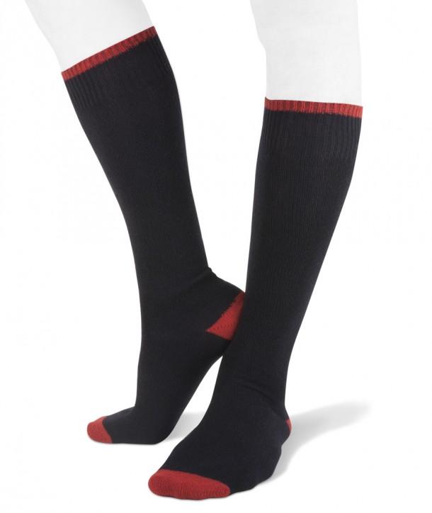Long cashmere blend men socks navy blue red