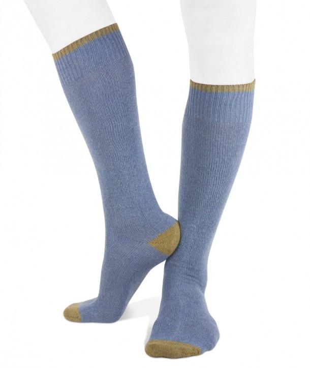 Long cashmere blend men socks denim olive