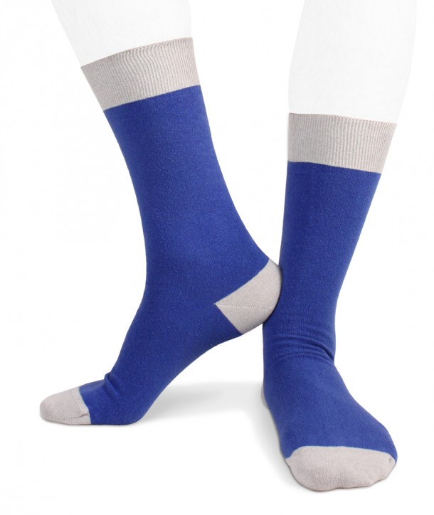 Ecotec® ecologic cotton men short socks blue grey