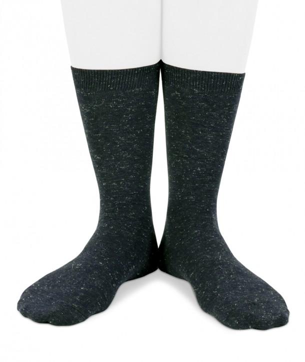 Lurex short navy blue socks for women