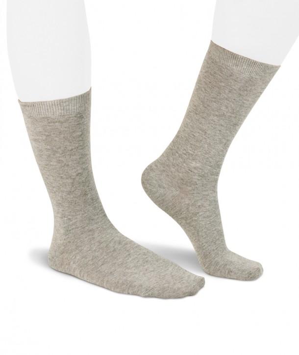 Lurex short light grey socks for women
