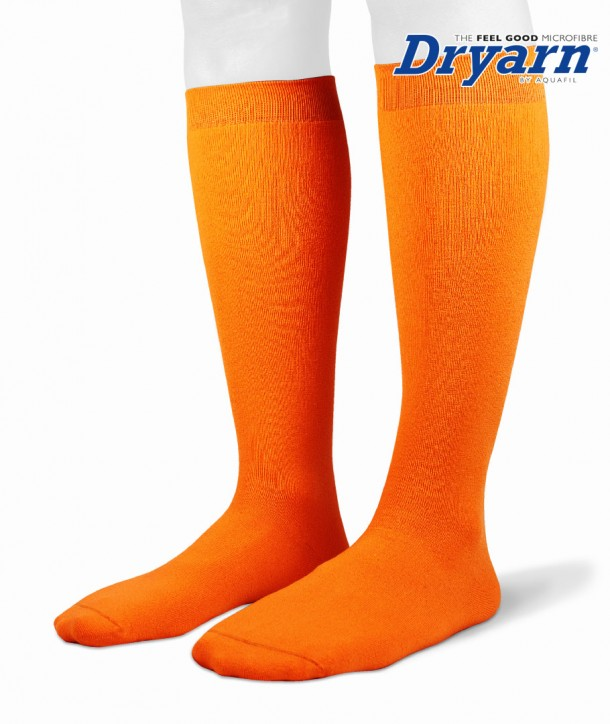Long microfleece Dryarn® orange socks for women