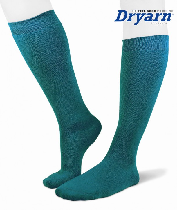 Long microfleece Dryarn® bluette socks for women