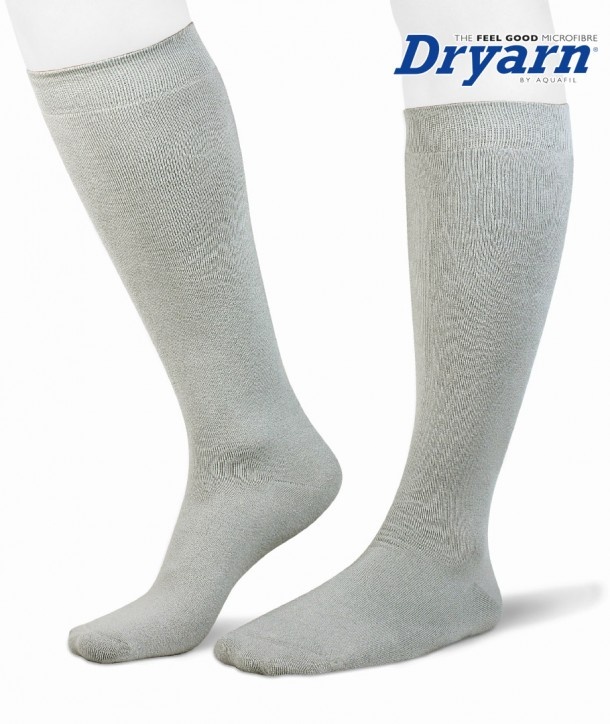 Long microfleece Dryarn® grey socks for women