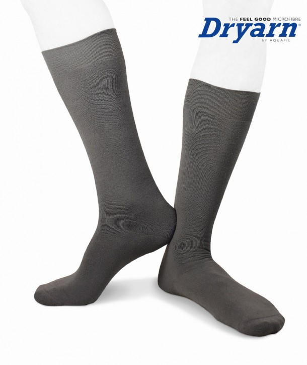 Long microfleece Dryarn® grey socks for men