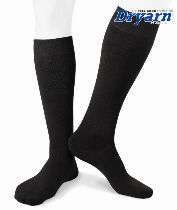 Long microfleece Dryarn® black socks for men